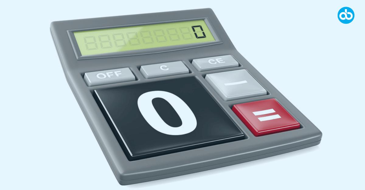 Zero Balance Accounts